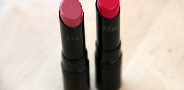 Kose Visée Creamy Lipstick in RD400 and RD401