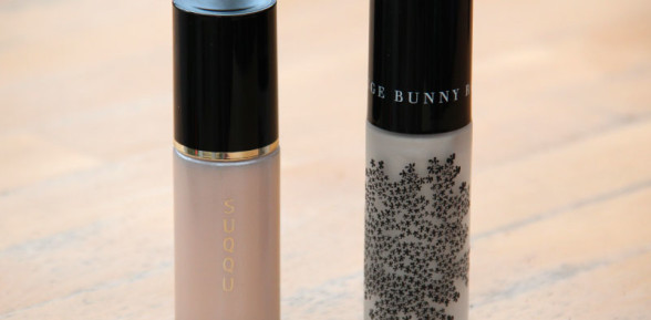 Suqqu Lighting Liquid vs Rouge Bunny Rouge Highlighting Liquid Sea of Clouds